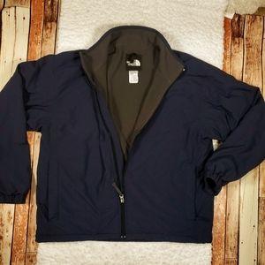 North Face Fleece Lined Nylon Zip Up Mens Jacket